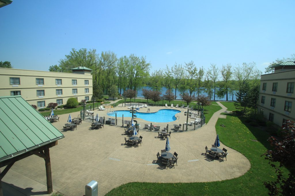 View of hotel pool