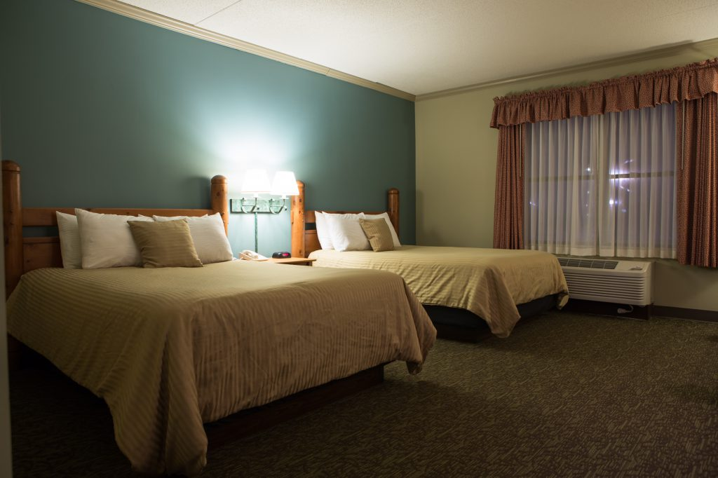 Interior view of hotel room
