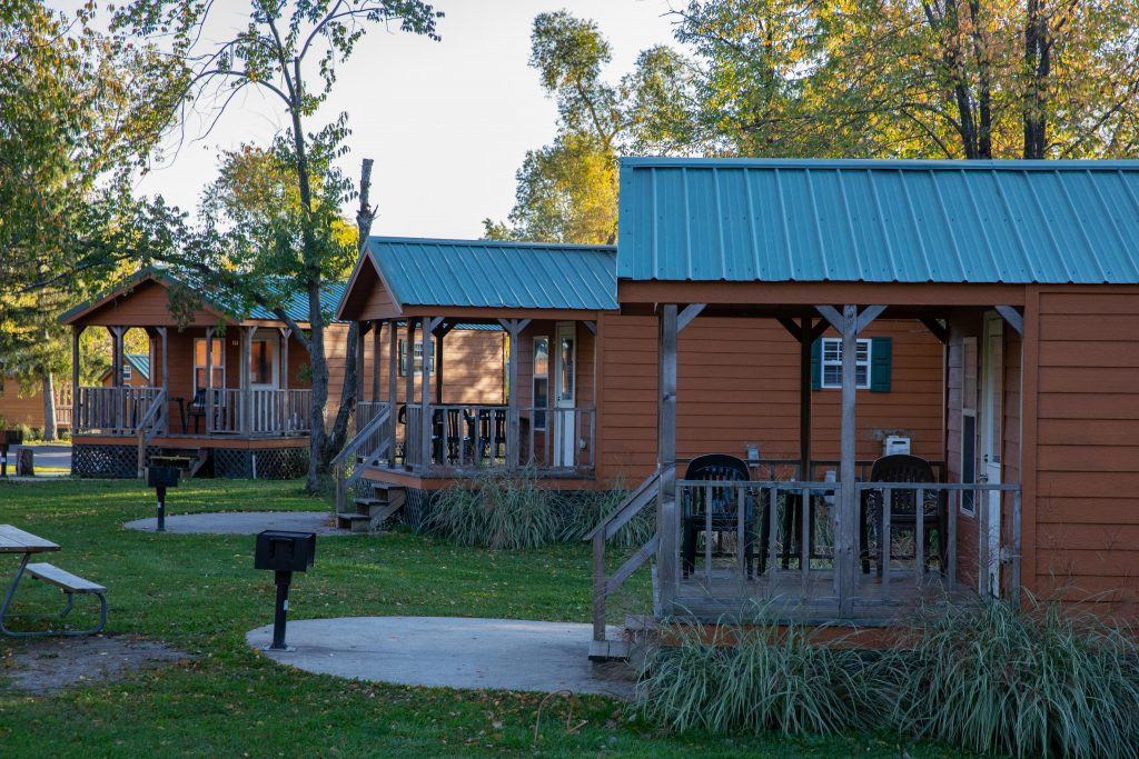 Outside views of cabin village