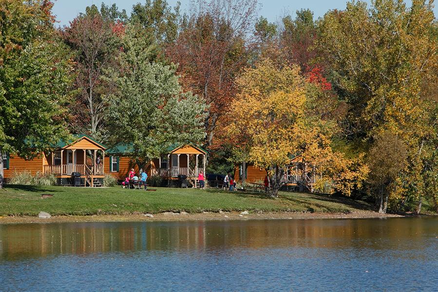 Lakeside cabins at Darien Lake